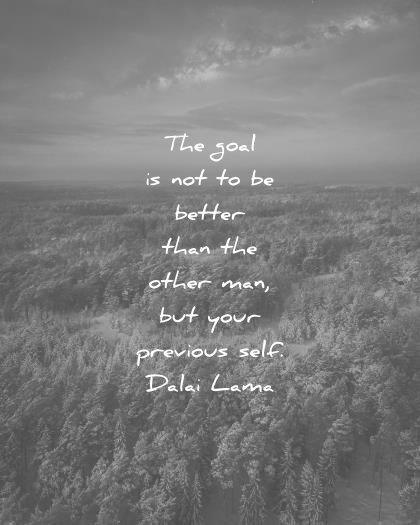 dalai lama quotes goal better than other man your previous self wisdom