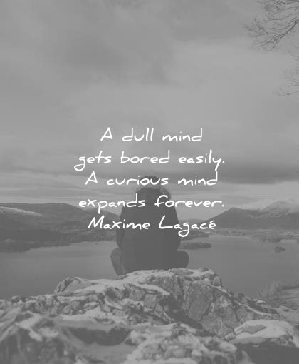 education quotes dull mind gets bored easily curious expands forever maxime lagace wisdom