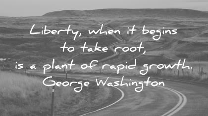 freedom quotes liberty when it beings to take root is a plant of rapid growth george washington wisdom quotes