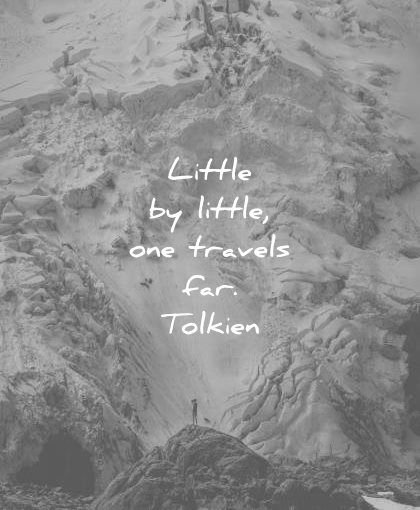 inspirational quotes little one travels far jrr tolkien wisdom