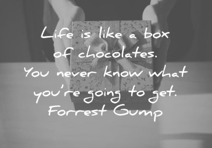 life quotes life is like a box of chocolates you never know what you re going to get forrest gump wisdom quotes