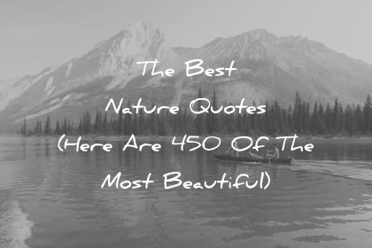 nature quotes the most beautiful wisdom