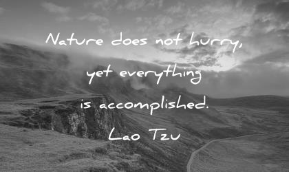 patience quotes nature does not hurry yes everything is accomplished lao tzu wisdom quotes