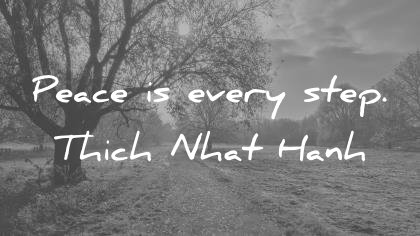 peace quotes peace is every step thich nhat hanh wisdom quotes