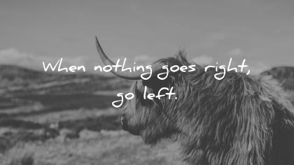 short quotes when nothing goes right go left wisdom quotes