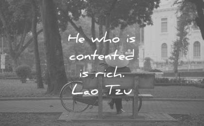 simplicity quotes who contented rich lao tzu wisdom