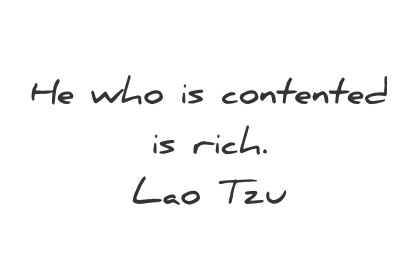 simplicity quotes he who is contented is rich lao tzu wisdom quotes