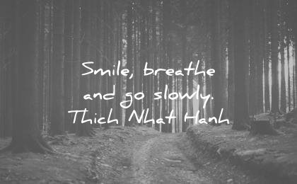 smile quotes breathe and go slowly thich nhat hanh wisdom