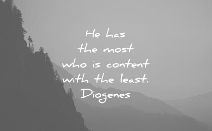 stoic quotes has the most who content with least diogenes wisdom